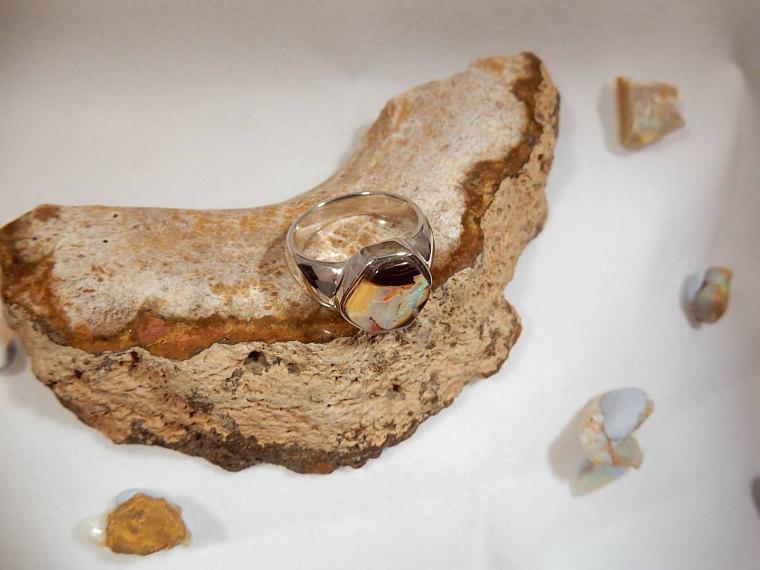 Boulder Opal Ring Slide