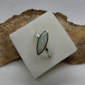 Solid Australian white Opal Ring by Michael Ibanes