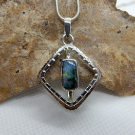 Solid Australian Boulder Opal Pendant by Michael Ibanes
