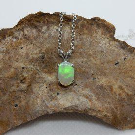 Australian White Opal Pendant by Michael Ibanes Jewelry