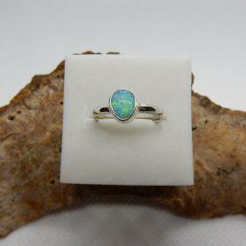Australian Solid Opal Ring - Size 6
